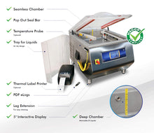 MV 45II VacSmart™ (Double Bar) - Chamber Vacuum Sealer with HACCP Plan
