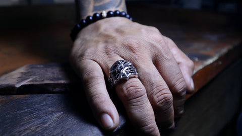 Navy Seals Ring For Men in Silver