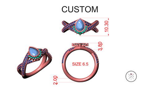 3D design of custom ring with military discount