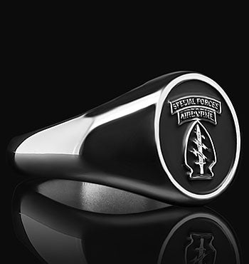 Army Special Forces Ranger Ring The Jewelry Republic Custom Signet Ring