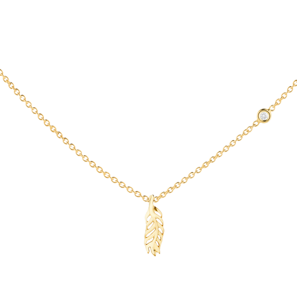 Light As A Feather Diamond Necklace - The Jewelry Republic
