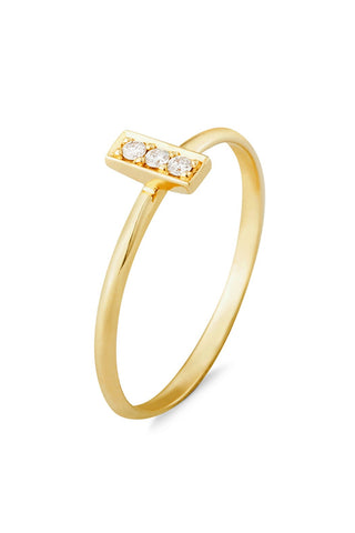 Trilogy Diamond Bar Ring
