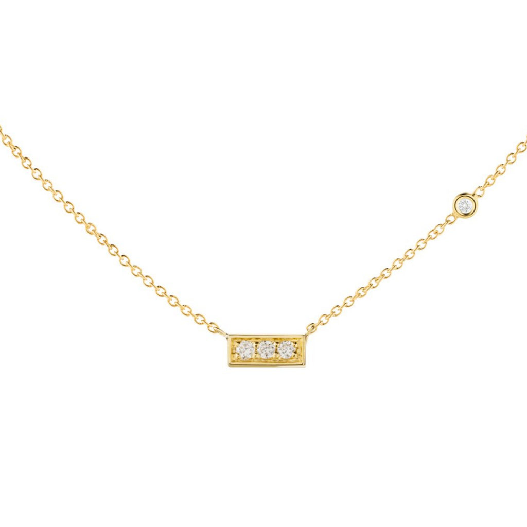 Trilogy Diamond Bar Necklace - The Jewelry Republic