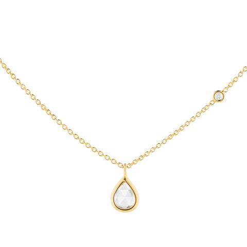 Rose-Cut Pear Diamond Necklace