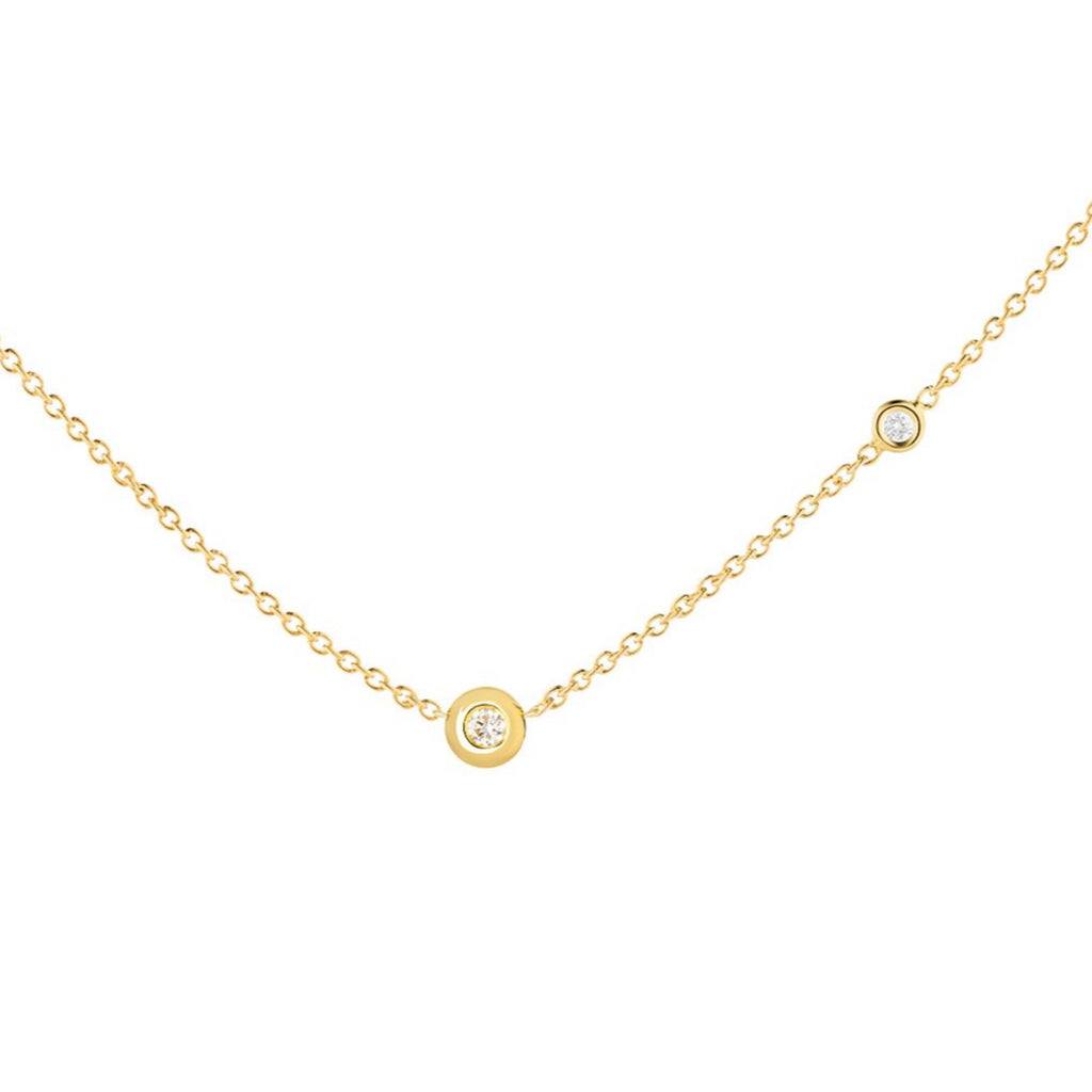 Diamond Ball Necklace - The Jewelry Republic