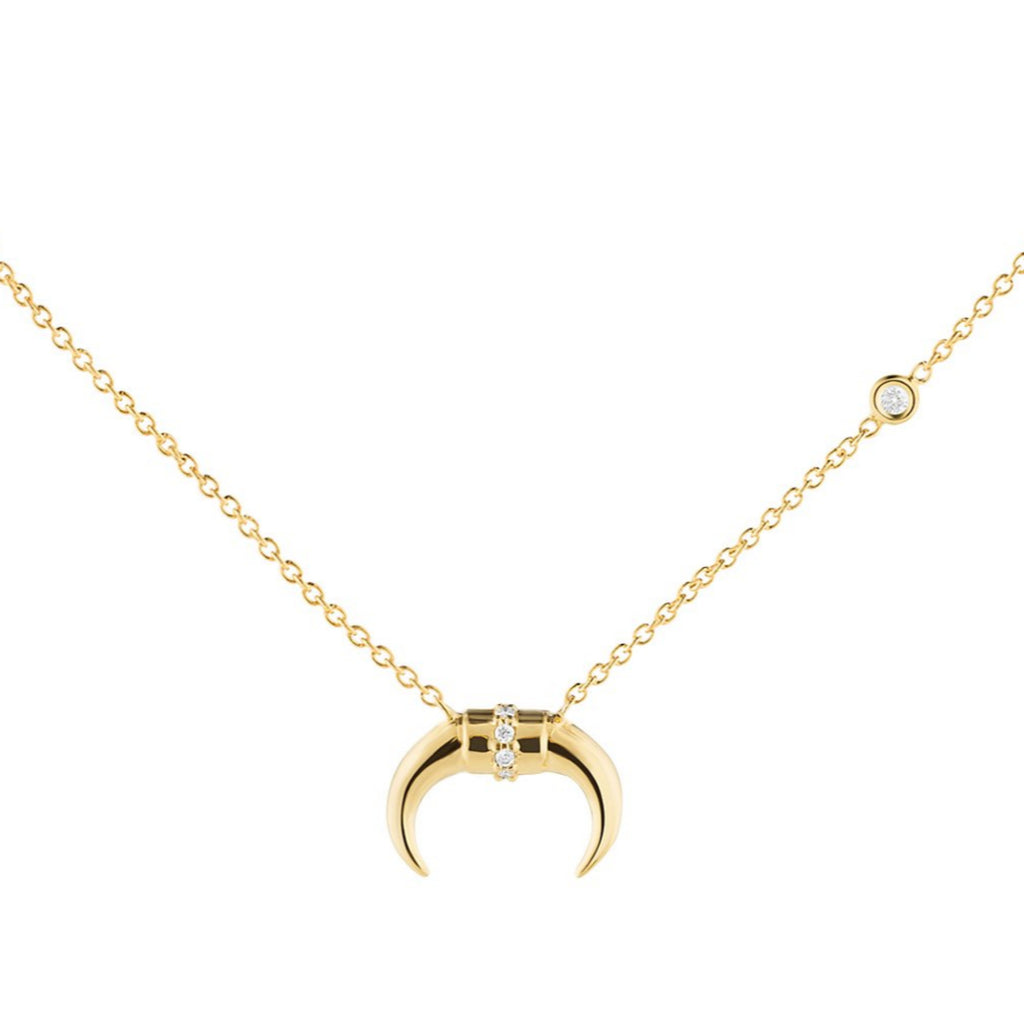 Diamond Bullhorn Necklace - The Jewelry Republic