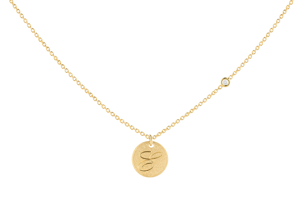 Your Initial Disc Necklace