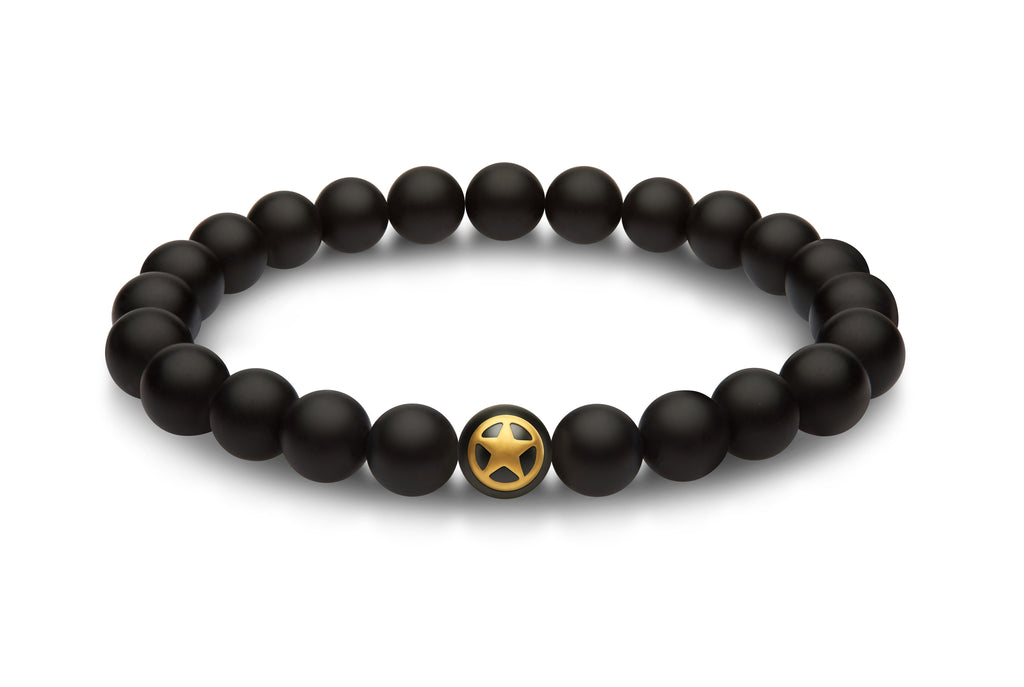 ARMY bead bracelet with gold logo for men and women