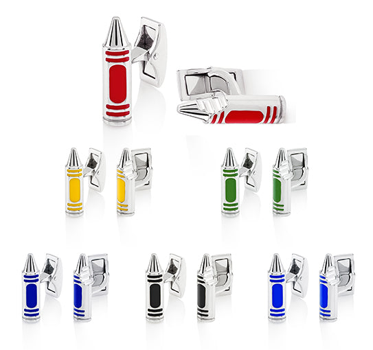 Marine Corps Crayon Cufflinks in Muliple colors