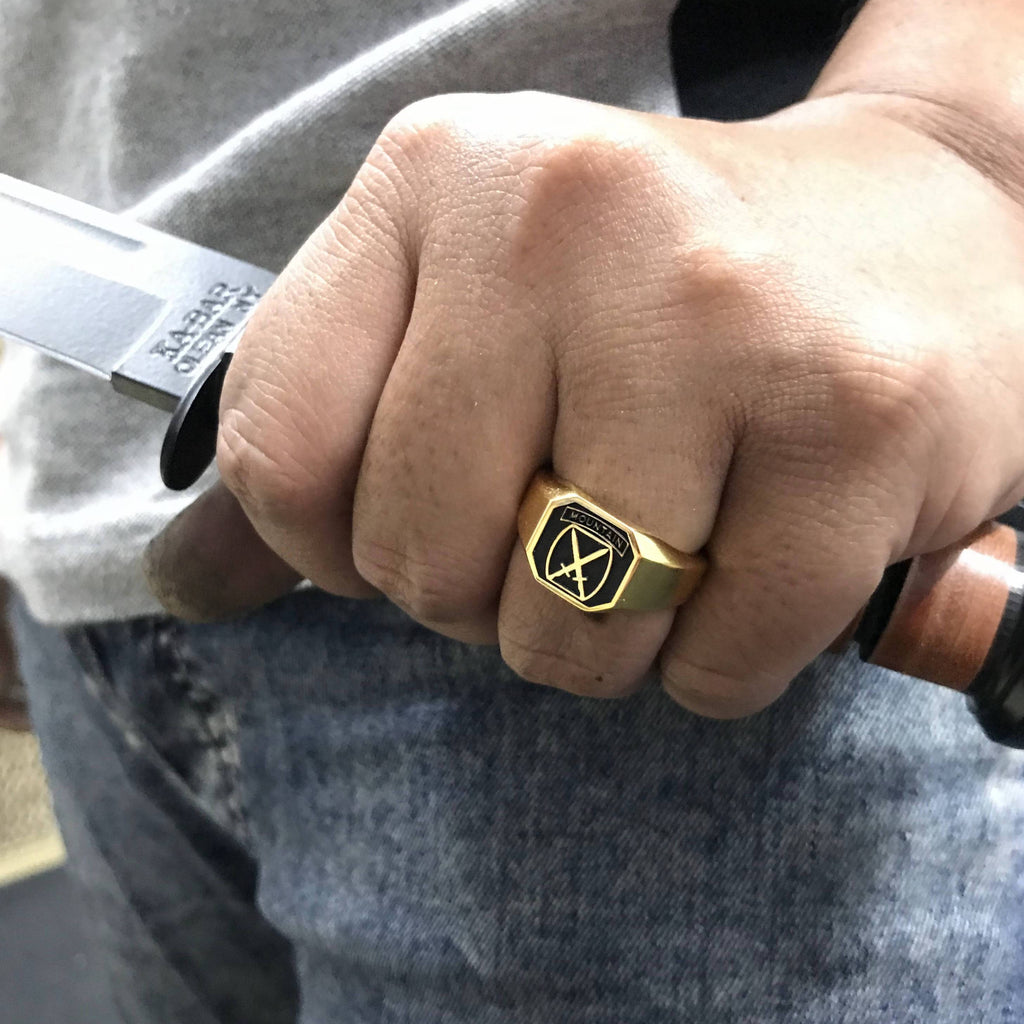 10th Mtn Division Ring in Gold