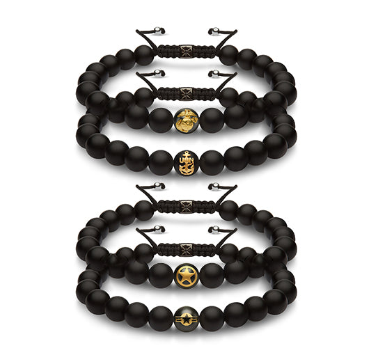 AIR FORCE Gold Adjustable Bracelet - The Jewelry Republic