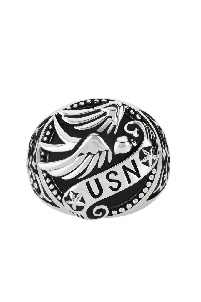 Vintage US Navy Ring, Navy ring, USN ring is styled to respect a sailor.