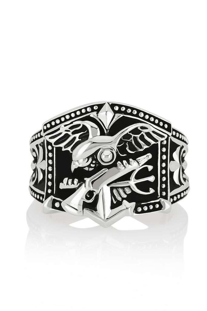 NAVY Seals ring, Tident ring is made with solid 925 sterling silver
