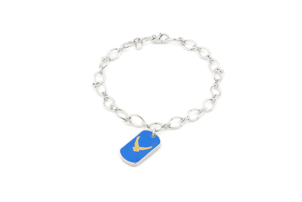 USAF Legacy Enamel Charm Bracelet - Rosie Network Exclusive - The Jewelry Republic