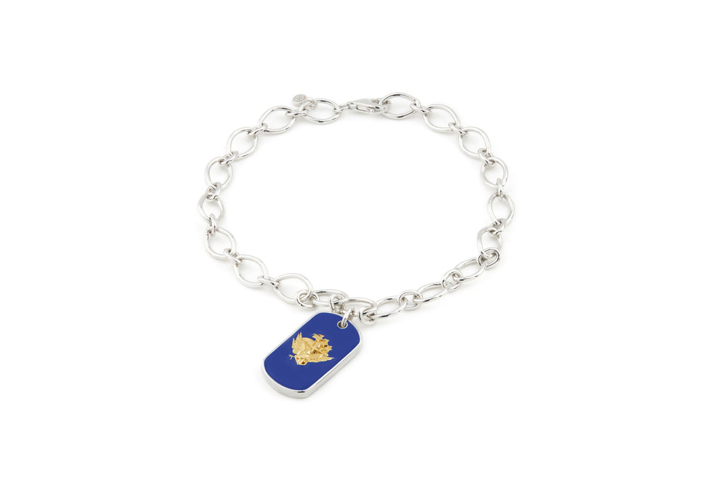NAVY Legacy Enamel Charm Bracelet - Rosie Network Exclusive - The Jewelry Republic