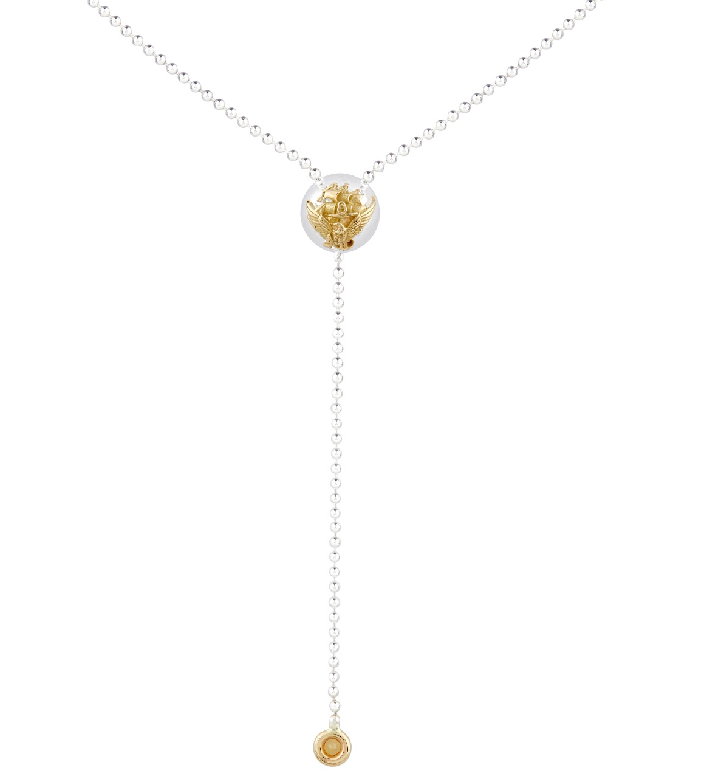 NAVY ACE Sapphire Drop Necklace - Rosie Network Exclusive - The Jewelry Republic