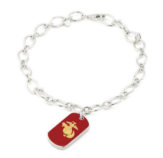 USMC Legacy Enamel Charm Bracelet - Rosie Network Exclusive - The Jewelry Republic