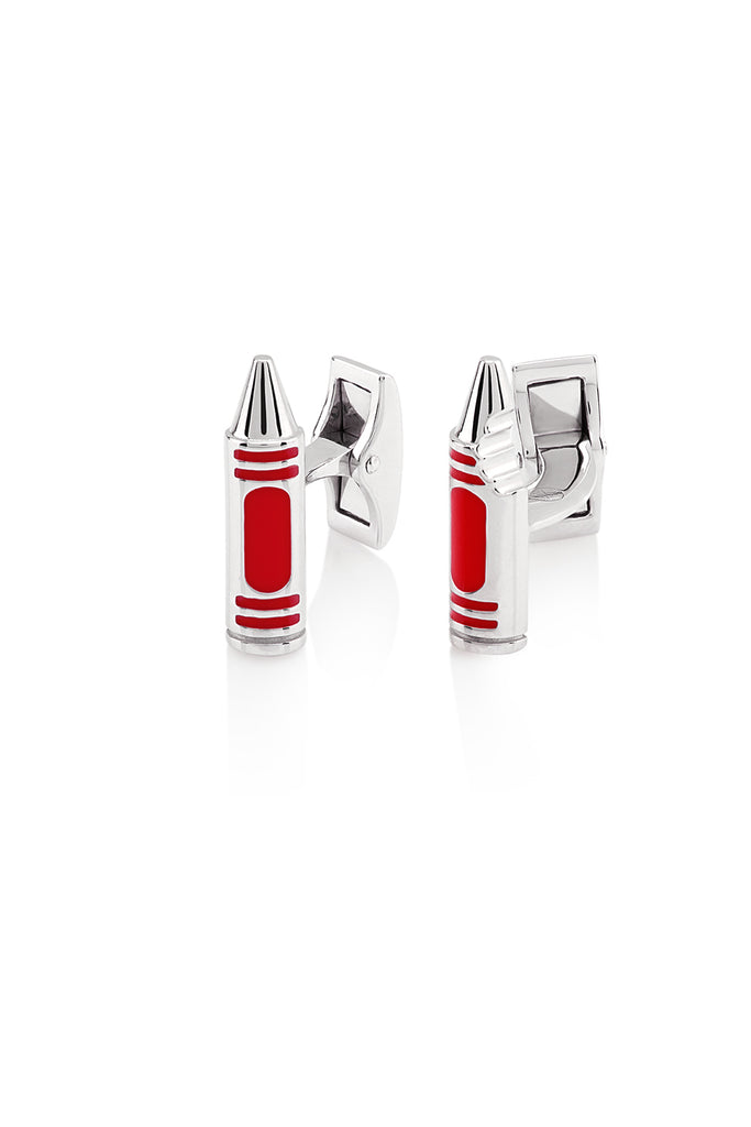 Crayon Cufflinks - USMC Favorite - The Jewelry Republic
