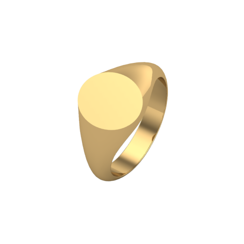 Oval Pinky Signet Ring