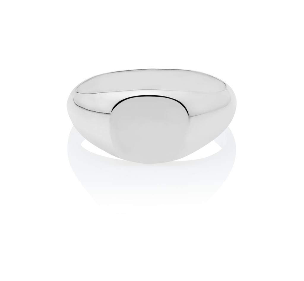 Men's Signet Round Ring - The Jewelry Republic
