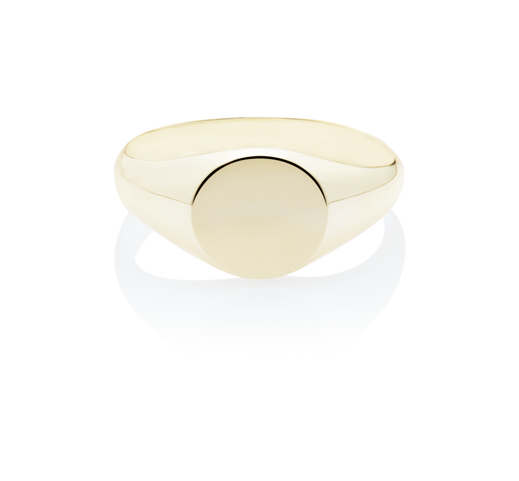 Women's Signet Round Ring - The Jewelry Republic