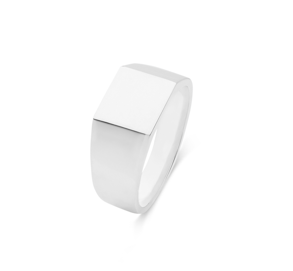 Men's Signet Square Ring - The Jewelry Republic