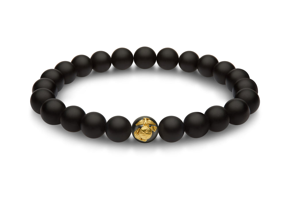 USMC bead bracelet with gold EGA