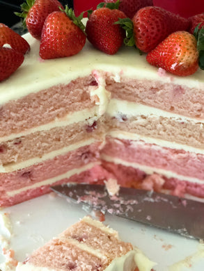 50 Shades of Pink Strawberry Cake