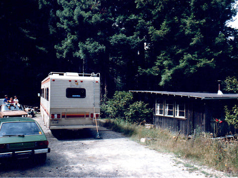 The entire family (plus two dogs) lived in this tiny cabin and motorhome. The rest of the property was dotted with groves of cannabis.