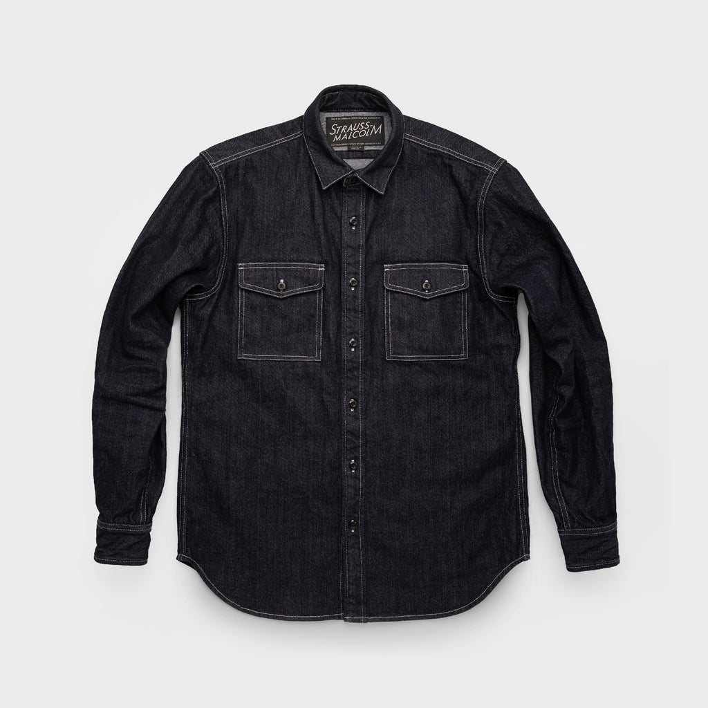 Denim Executive Work Shirt - Strauss-Malcolm Unisex Made in the USA Limited Edition brand, Wovens - Designer clothes and accessories, Strauss-Malcolm - Strauss-Malcolm