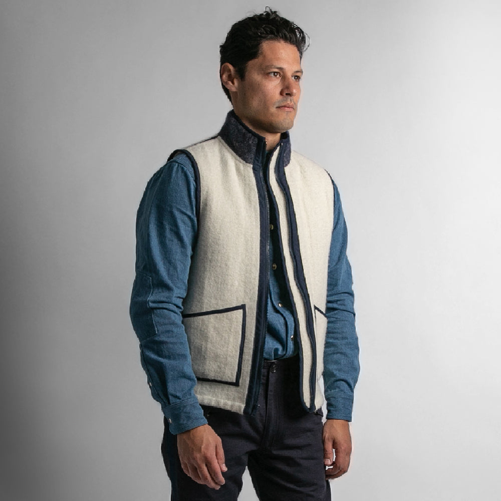 Faribault Blanket Vest - Strauss-Malcolm Unisex Made in the USA Limited Edition brand, Outerwear - Designer clothes and accessories, Strauss-Malcolm - Strauss-Malcolm