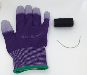 One Purple Sew-in -Glove, One Needle and One Thread