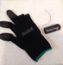 2 IN 1  Sew-in-glove/ Heat Resistant. Includes:  Combo Set  include  1 sew-in-glove, 1 large needle and 1 black weave thread - Sew-in-glove