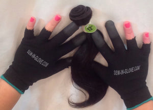 2 IN 1  Sew-in-glove/ Heat Resistant. Includes: 2 Sew -In- Gloves , Needle and Thread - Sew-in-glove