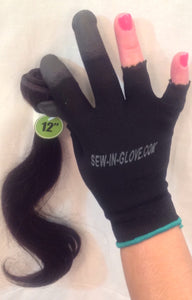 2 IN 1 Ladies Sew-in-glove/ Heat Resistant. Include: 1 Sew - In - Glove, 1 Needle and 1 Thread. (Weave Bundle/NOT Included) - Sew-in-glove