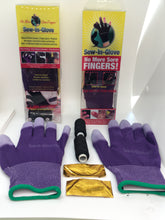 Load image into Gallery viewer, Two Purple Sew-In-Glove,Two Needles and Threads