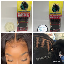 Load image into Gallery viewer, 1 Edge Control &1 sew-in -Glove with 1 needle and 1 tread