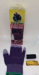 One Purple Sew-In-Glove,One Needle and One Thread