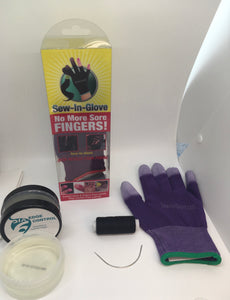 One Edge Control,One Purple Sew-In-Glove,One Needle and One Thread