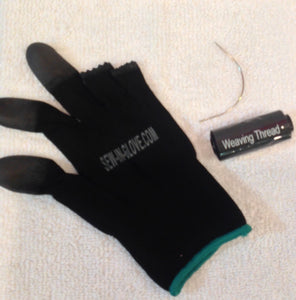 1 Edge Control &1 sew-in -Glove with 1 needle and 1 tread