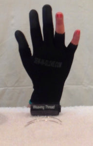 2 IN 1 Ladies Sew-in-glove/ Heat Resistant. Combo Set. Include 1 glove,  1 large needle and 1black weave thread - Sew-in-glove