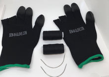Load image into Gallery viewer, Two Black Sew-In-Glove, Two Needles and Two Thread