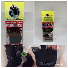 Load image into Gallery viewer, Sew-in-glove..... Includes: 2 Sew-in-Glove Single ,2 Needle and  2 Thread