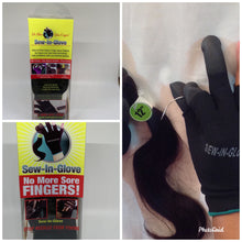 Load image into Gallery viewer, Sew-in-glove.... Includes: 2 Sew -In- Gloves , 2 Needle and 2 Thread