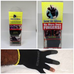 2 IN 1  Sew-in-glove/ Insta -Loc glove. Includes: 1. Man sew-in-glove 1Needle and 1 Thread