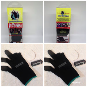 Sew-in-glove.... Includes: 2 Sew -In- Gloves , 2 Needle and 2 Thread