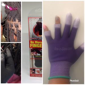 One Purple Insta Loc Glove and One 0.05  Crochet Needle