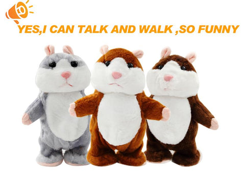 Cute Talking And Walking Hamster Plush Toy