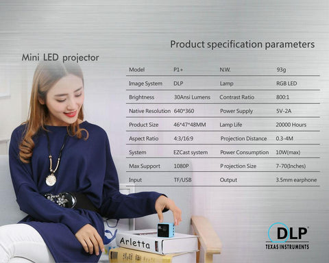 DLP POCKET SMART PROJECTOR + WIFI