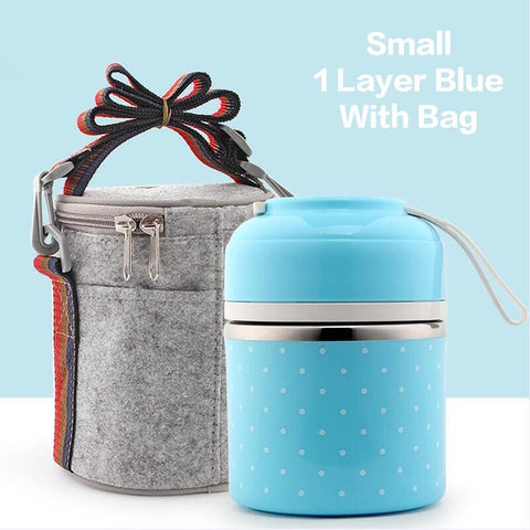 Stainless Steel Layered Thermal Lunch Box